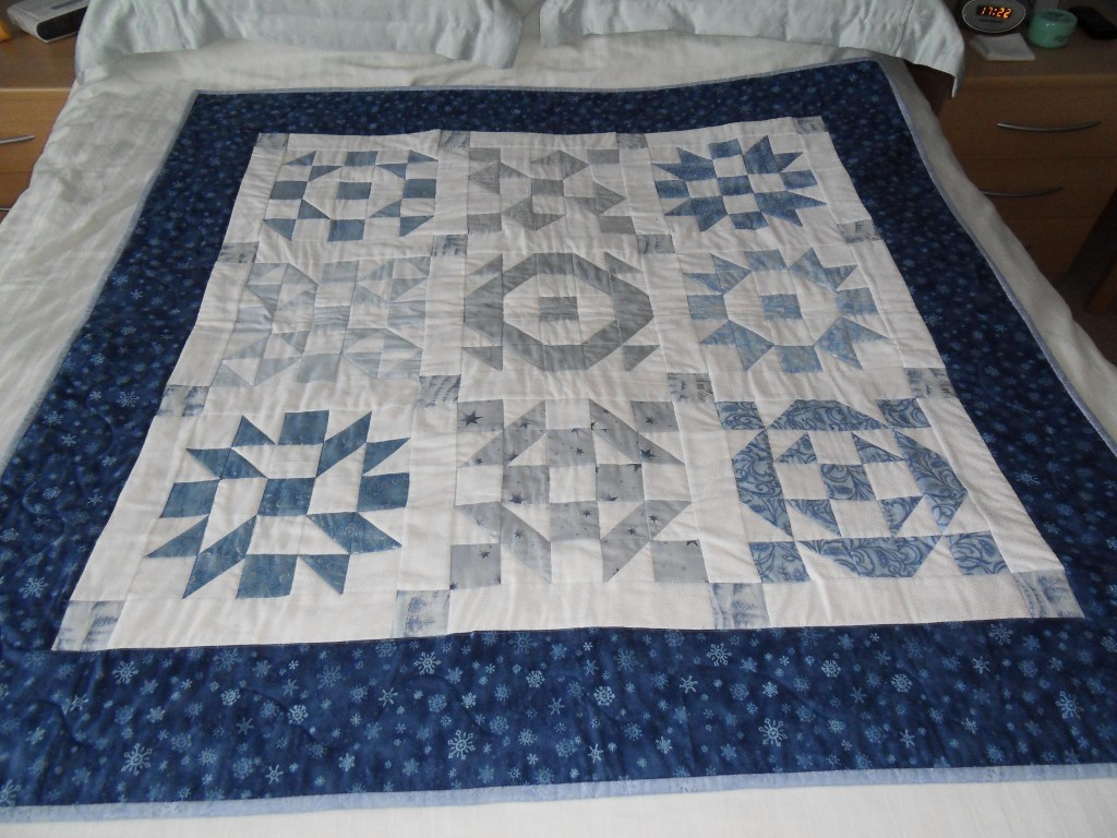 Bed Quilt - Blue